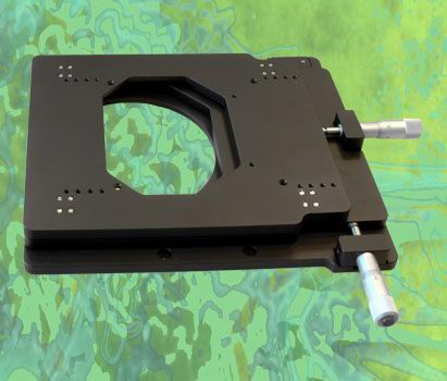 The optional M-545 manual XY stage provides a stable platform for the PInano® piezo stages.