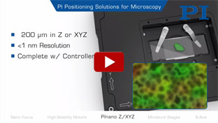 Precision Motion Products for Microscopy & Imaging
